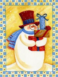Snowman with Presents by Beverly Johnston