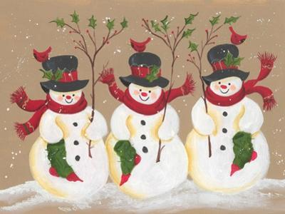 Trio of Snowmen by Beverly Johnston
