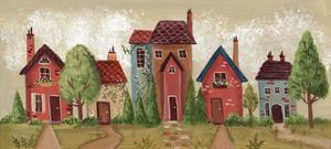 Village Scene by Beverly Johnston