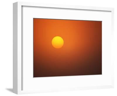 Sun Seen in a Twilight Sky