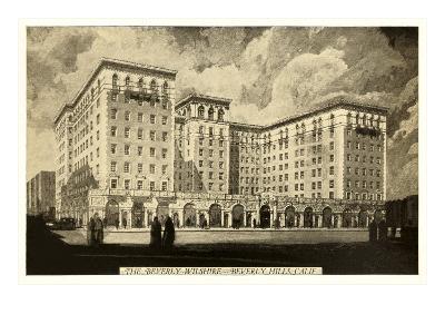 Beverly-Wilshire Hotel, Beverly Hills, Los Angeles, California--Art Print