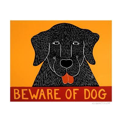 Beware Of Dog Black-Stephen Huneck-Giclee Print