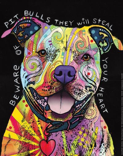 Beware of Pit Bulls-Dean Russo-Art Print