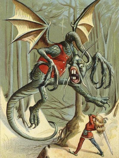 """Beware the Jabberwock, My Son.""--Giclee Print"