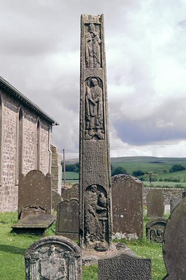 Bewcastle Anglo-Saxon Cross, 7th century. Artist: Unknown-Unknown-Giclee Print