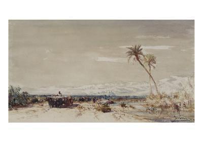 Beyrouth, les deux palmiers-F?lix Ziem-Giclee Print