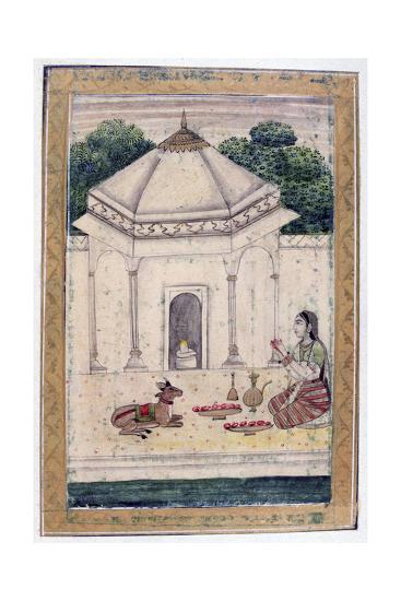 Bhairavi Ragini, Ragamala Album, School of Rajasthan, 19th Century--Giclee Print