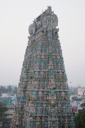 Tower of Kumbakonam Temple, Kumbakonam, Tamil Nadu, India, Asia