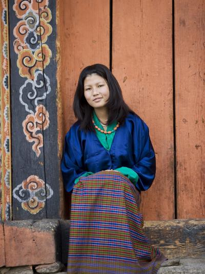Bhutanese Woman, Jankar, Bumthang, Bhutan-Angelo Cavalli-Photographic Print