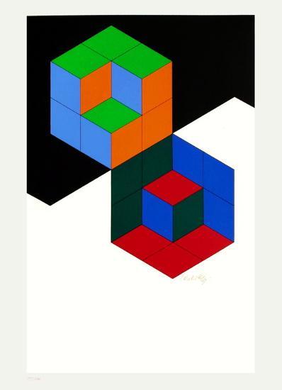 Bi-Hexa-Victor Vasarely-Limited Edition