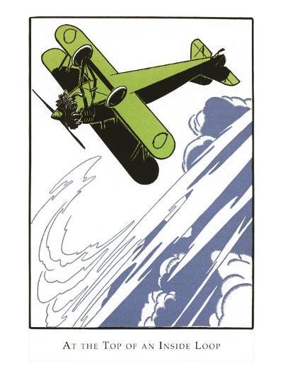 Bi-Plane Doing Loop--Art Print