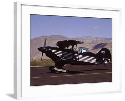 Bi-Plane on Runway-Larry McManus-Framed Photographic Print