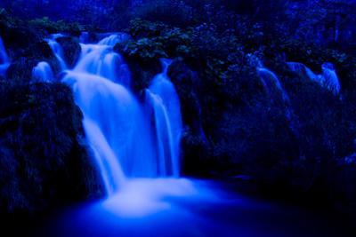 Moonlight on the Velike Kaskade, Kaluderovac Lake, Lower Lakes, Plitvice Lakes Np, Croatia by Biancarelli