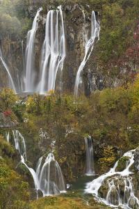 Plitvicka Slap and Sastavci Waterfalls, Plitvice Lakes National Park, Croatia, October 2008 by Biancarelli