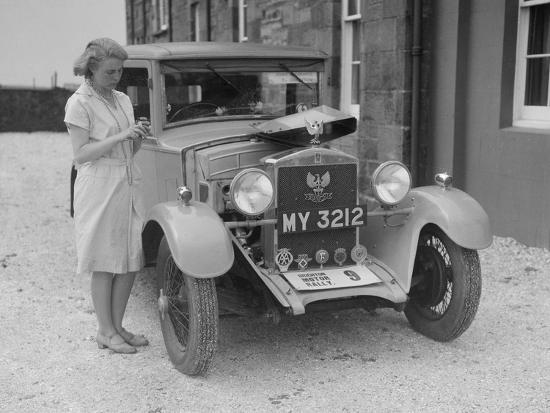 Bianchi saloon of Kitty Brunell at the B&HMC Brighton Motor Rally, 1930-Bill Brunell-Photographic Print