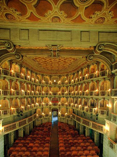 """Bibiena Theater known as the """"Scientifico""""--Photographic Print"""