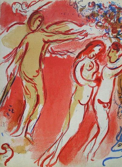 Bible: Adam et Eve Chass?s du Paradis-Marc Chagall-Premium Edition