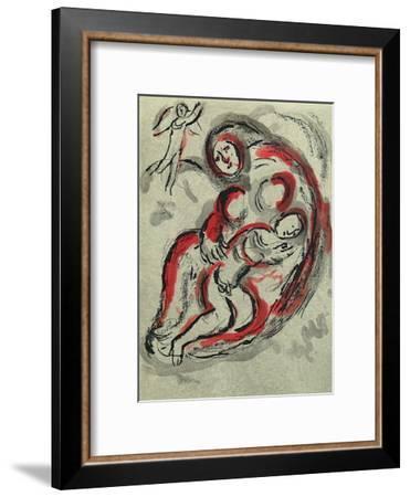 Bible: Agar dans le Desert-Marc Chagall-Framed Premium Edition