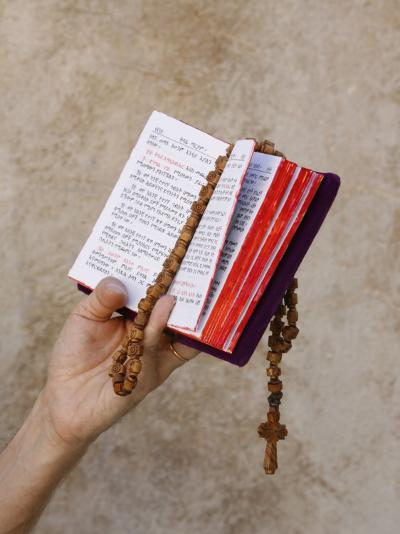 Bible and Rosary-Godong-Photographic Print