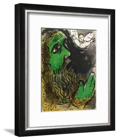 Bible: Job en Priere-Marc Chagall-Framed Premium Edition