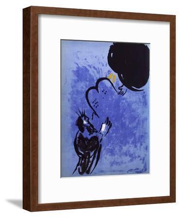 Bible: Moise Recoit les Tables de la Loi-Marc Chagall-Framed Premium Edition
