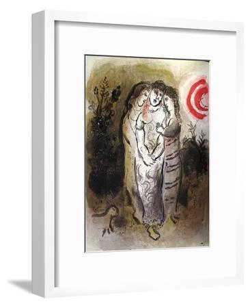 Bible: Noemie et Ses Belles-Filles-Marc Chagall-Framed Premium Edition