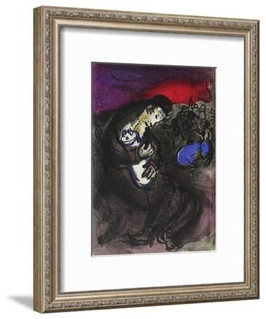 Bible: Pleurs de Jeremie-Marc Chagall-Framed Premium Edition