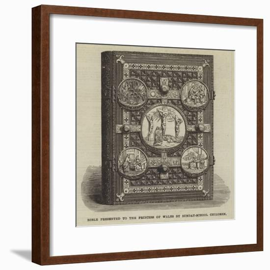 Bible Presented to the Princess of Wales by Sunday-School Children--Framed Giclee Print