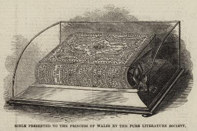 Bible Presented to the Princess of Wales by the Pure Literature Society--Giclee Print