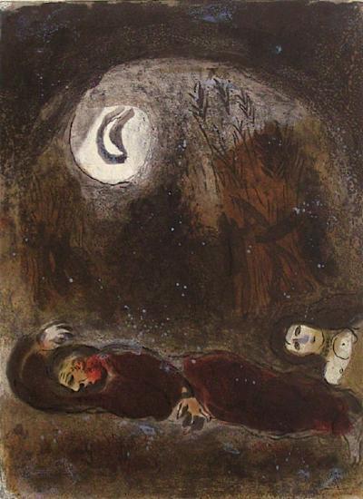 Bible: Ruth aux Pieds de Booz-Marc Chagall-Premium Edition