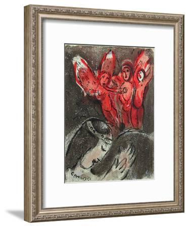 Bible: Sara et les Anges-Marc Chagall-Framed Premium Edition
