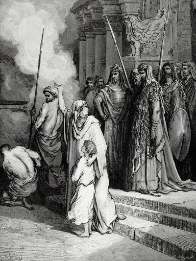 Bible. the Courage of a Mother of Maccabees. Illustration by Gustave Dore. II Maccabees--Giclee Print
