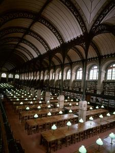 Bibliotheque Sainte-Geneviève, Reading Room, Paris, France