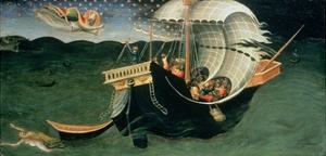 St. Nicholas Rebuking the Tempest by Bicci di Lorenzo