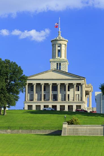 Bicentennial Capitol Mall State Park and Capitol Building-Richard Cummins-Photographic Print