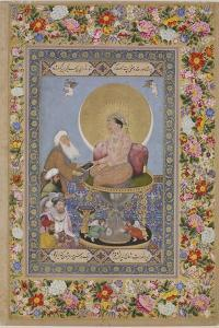 Jahangir Preferring a Sufi Sheikh to Kings, C. 1618 by Bichitr