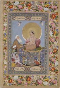 Jahangir Preferring a Sufi Sheikh to Kings, C. 1618 by Bichitr