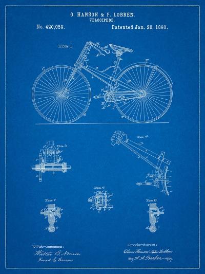 Bicycle 1890 Patent-Cole Borders-Art Print