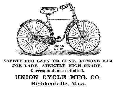 Bicycle Advertisement, 1890--Giclee Print