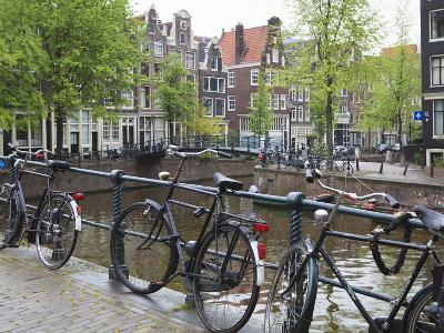 Bicycle, Brouwersgracht, Amsterdam, Netherlands, Europe-Amanda Hall-Photographic Print