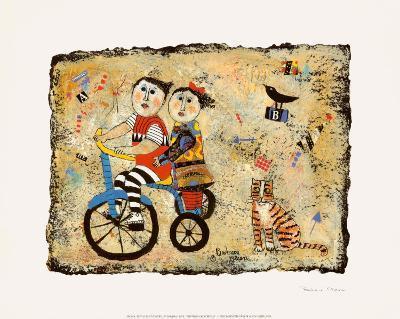 Bicycle Built for Two-Barbara Olsen-Art Print