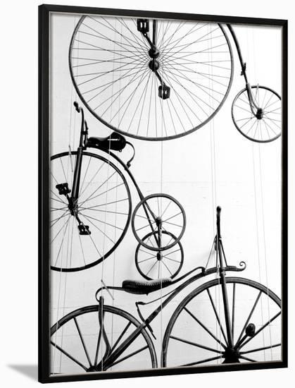 Bicycle Display at Swiss Transport Museum, Lucerne, Switzerland-Walter Bibikow-Framed Photographic Print