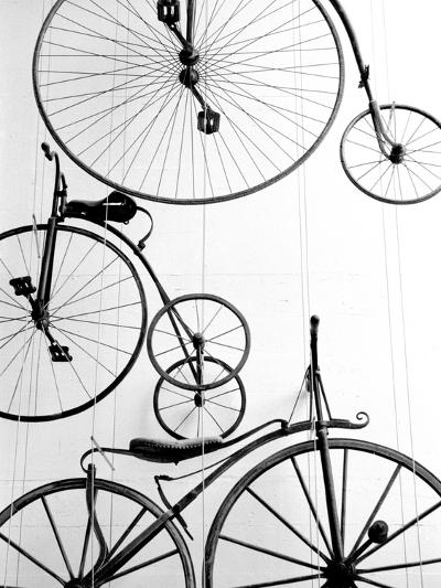 Bicycle Display at Swiss Transport Museum, Lucerne, Switzerland-Walter Bibikow-Photographic Print