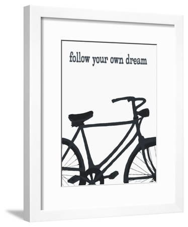 Bicycle - Follow Your Own Dream-Lisa Weedn-Framed Giclee Print