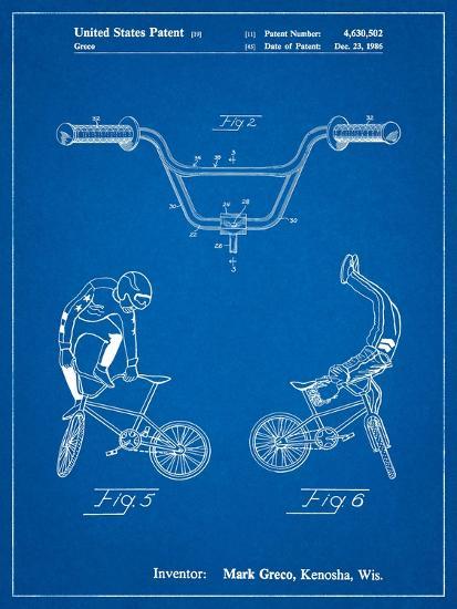 Bicycle Handlebar Art-Cole Borders-Art Print