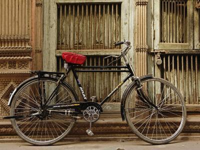 Bicycle in narrow gully, Delhi, India-Adam Jones-Photographic Print