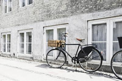 Bicycle Leaning Against Wall, City, Copenhagen, Denmark, Scandinavia-Axel Schmies-Photographic Print