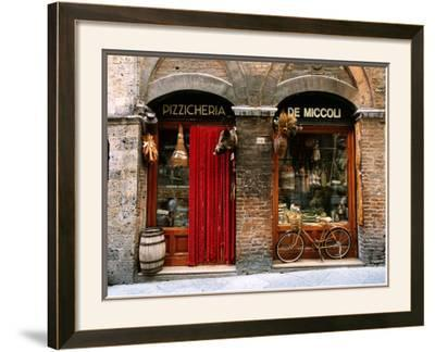 Bicycle Parked Outside Historic Food Store, Siena, Tuscany, Italy-John Elk III-Framed Photographic Print