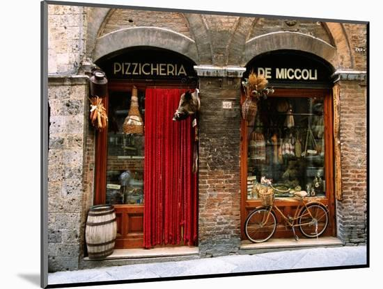 Bicycle Parked Outside Historic Food Store, Siena, Tuscany, Italy-John Elk III-Mounted Photographic Print