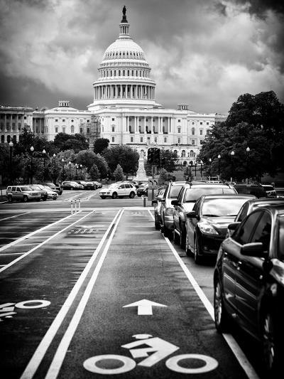 Bicycle Path Leading to the Capitol, US Congress, Washington D.C, District of Columbia-Philippe Hugonnard-Photographic Print